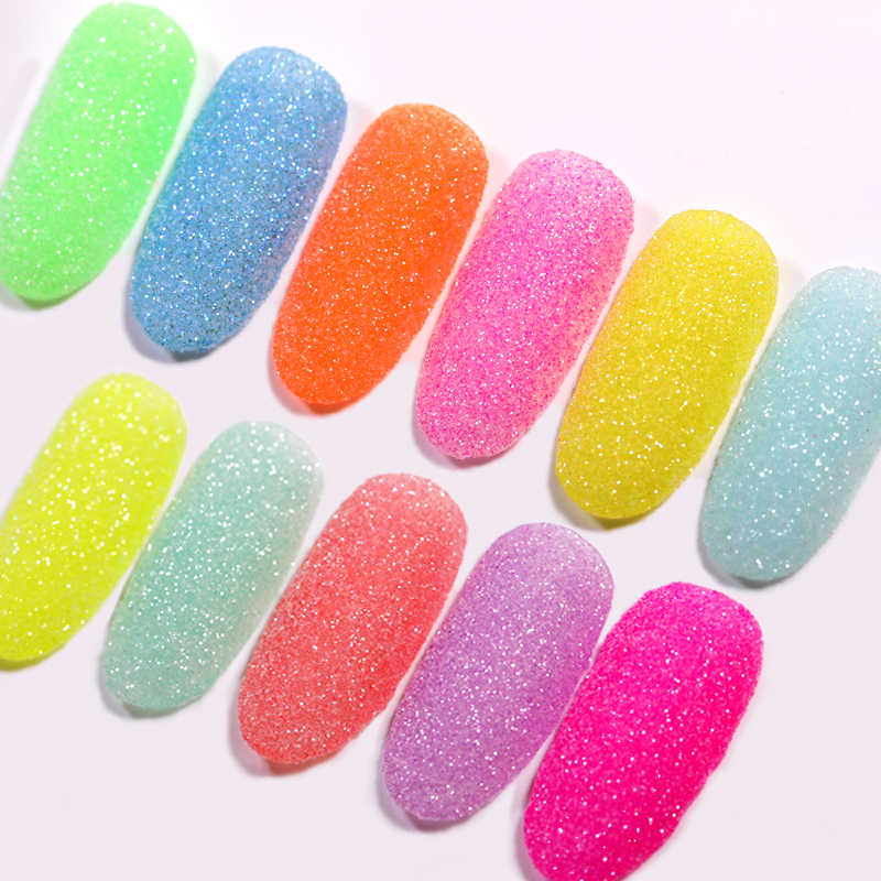 1 Caja Holográfica Uñas Brillo Azúcar Efecto Polvo Uñas Arte