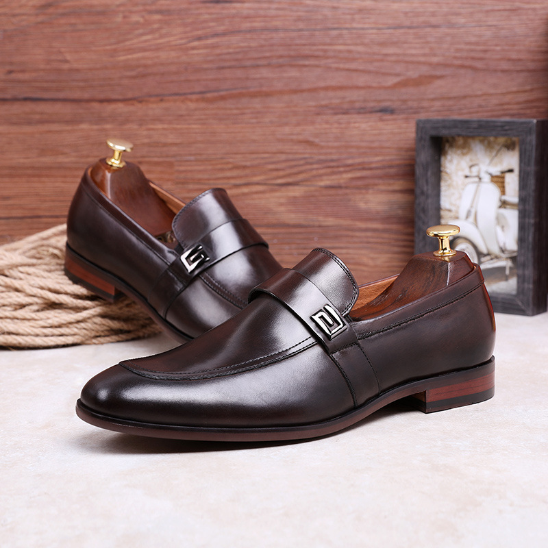 Image 4 - Desai Male Shoes Genuine Leather 2020 New Metal Decoration  Leather Handmade Soft Comforable Leather Men Loafers Causal ShoesMens  Casual Shoes