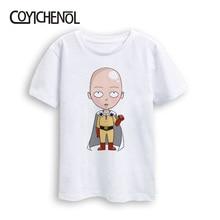 Di un pugno man bambini tshirt carino Per Bambini più il formato Kawaii Tshirt Nuovo 2 12 Anni di Animazione Del Fumetto Stampato bambini Magliette E Camicette COYICHENOL