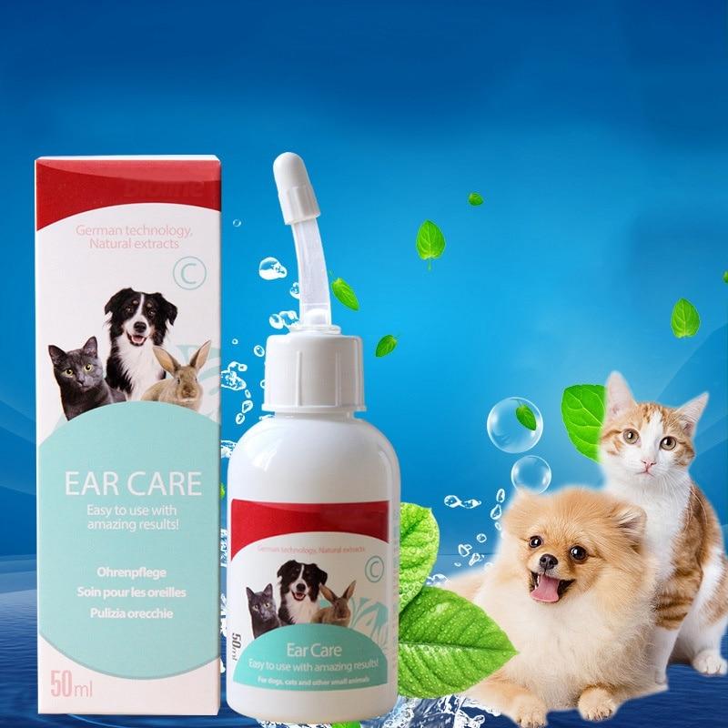 50ml Pets Ears Drops Odor Remover Effective Against Mites Antibacterial Preventing Ear Disease Pet Dog Cat Clean Ear Wash Hot