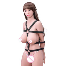 Erotic positioning bandage Gear Fetish kinky bdsm sex toys for couples PU Leather Hand Restraint Cuffs Harness Adult SM enslave