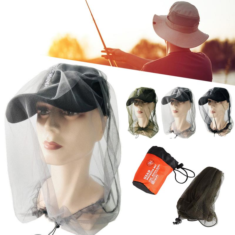 1PCS Outdoor Fishing Cap Midge Mosquito Insect Hat Sunshade Mask Head Mosquito Fly Net Camping Anti Bee Protector Cap