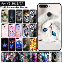 Soft TPU Silicone case for Huawei Honor 7A/Honor 7A Pro/Y6 2018/Y6 Prime 2018/Enjoy 8e cover Animal Cute Cartoon Cases Fundas(China)