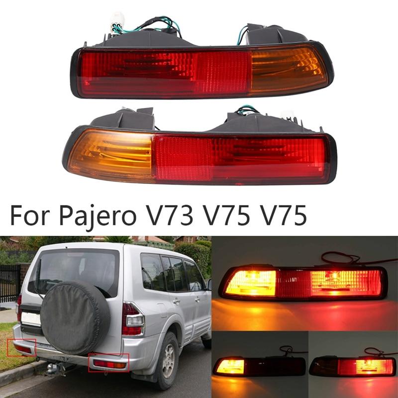 Rear Bumper Fog Light Lamp Bumper Reflector Tail Light for Mitsubishi Pajero V73 V75 2001 2002 2003