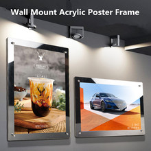 A4 Wall Mount Acrylic Business Poster Picture Photo Document Display Frame Sign Holder Display Board