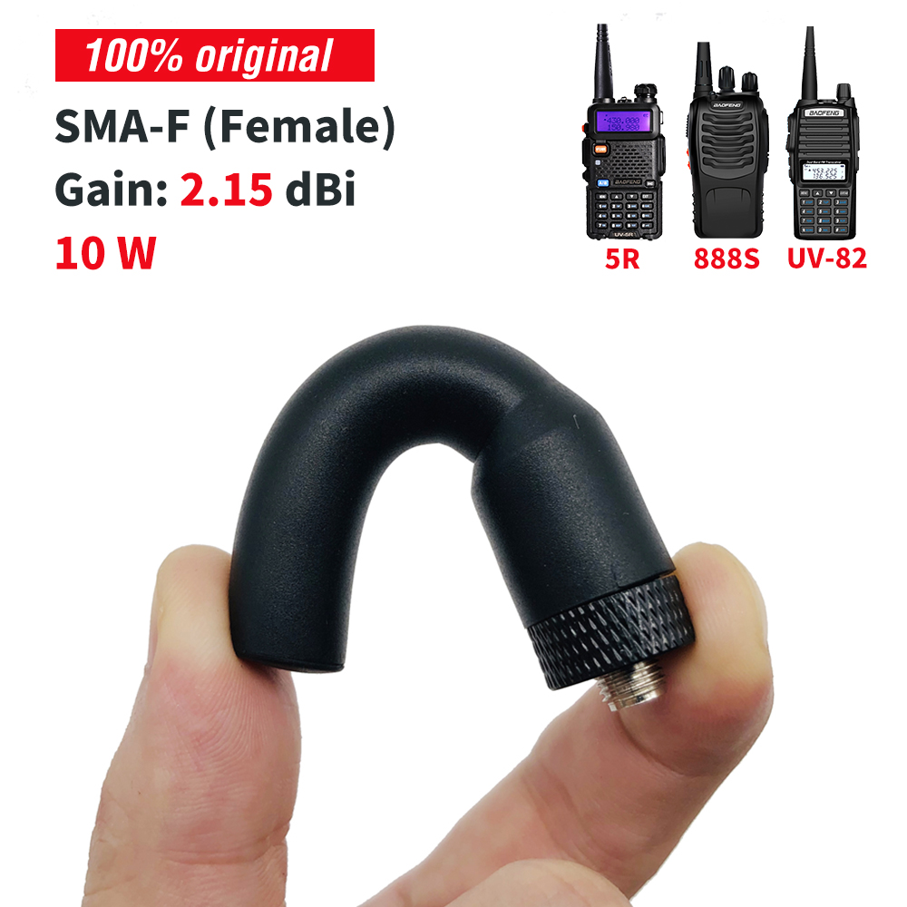 SMA-F Walkie Talkie Antenna Accessories 10W Dual Band 144MHz/430MHz Soft Antenna For BAOFENG UV-5R BF-888S DM-5R Plus SF20