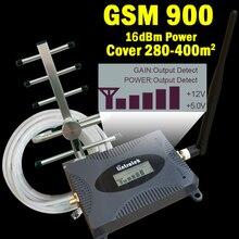 16dBm Màn Hình Hiển Thị LCD 2G GSM 900 Mhz Tăng Cường Tín Hiệu GSM 900 65dB Điện Thoại Di Động Lặp Tín Hiệu Khuếch Đại + GSM Yagi Ăng Ten 39