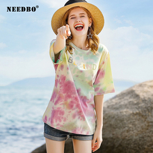 T-shirt Women Cotton Vogue Tshirt Sexy Casual t Shirt Femme O-neck Short Sleeve Gradient Oversize Harajuku T