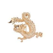 WEIMANJINGDIAN, novedad de 2020, Perno de broche de Metal de dragón chino dorado