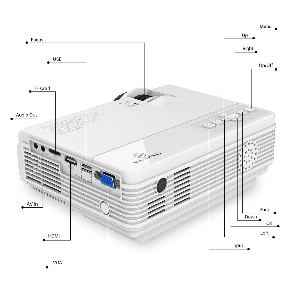 Dropshipping vankyo lazer c3mq/c3wq 1080p suportado mini projetor com sincronizar tela do smartphone portátil wi fi projetor-3
