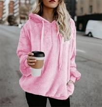 Hoodies Women Sweatshirts 2019 Autumn Winter Fashion Kawaii Hairy Teddy Long Sleeves Ladies Hoody Streetwear Plus Size 5XL