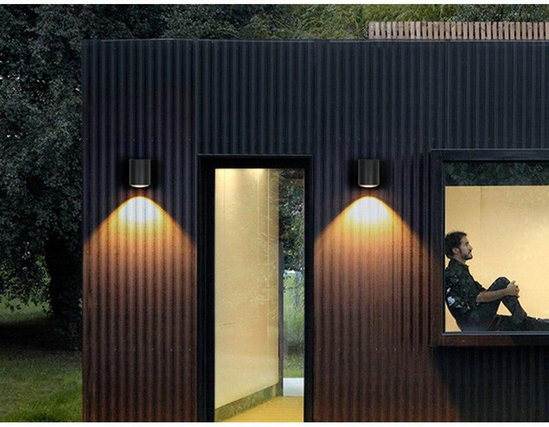 parede ip65 arandelas metal preto branco varanda corredor retro luzes
