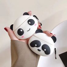3D Panda Earphone Cases for AirPods 2 Case Cute Cartoon for Apple Air Pods Protect Cover for