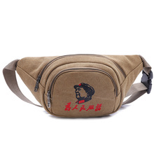 Canvas Casual Men Waist Packs Fanny Bag Multifunctional Hip Bum Chest Belly Back Bag With Adjustable Belt Strap Crossbody Bags