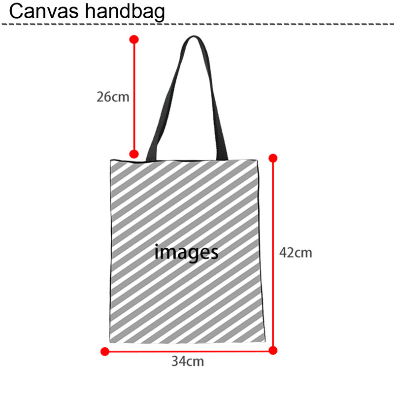 Nopersonality Canvas Tote Bag for Women Super Mom Print Shoulder Bags Eco Foldable Female Girl Canvas Handbags