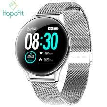 HopoFit SN58 akıllı spor takip saati nabız monitörü kan basıncı aktivite Tracker IP68 su geçirmez Android iOS erkekler