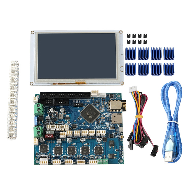 <font><b>Clone</b></font> DuetWifi <font><b>Duet</b></font> 2 <font><b>Wifi</b></font> V1.04 Motherboard Advanced 32 Bit Electronics with 5 Inch PanelDue 5I Integrated Colour Press Screen image