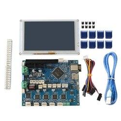 Klon DuetWifi Duet 2 Wifi V1.04 płyta główna zaawansowane 32 Bit elektroniki z 5 Cal PanelDue 5I zintegrowany kolor naciśnij ekran