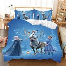 Frozen Bedding Set Anna Elsa Queen King Size Bed Set Children Girl Duvet Cover Pillow Cases