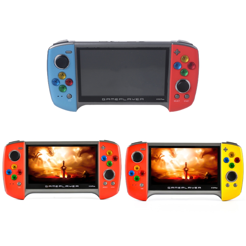 2020 New X19 Plus Handheld Game Console 5.1 Inch Large Screen 1000 Classic Games 360 Degree Double-rocker 27RA