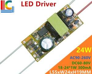 Image 2 - Wholesale 100PCs 18W 19W 20W 21W 24W Led Driver 300mA 450mA 600mA Power Supply DC 30 36V/60 80V Lighting Transformer