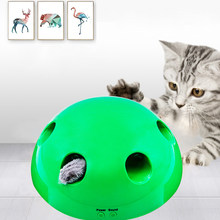 2019 nuevo juguete de gato Pop Play Pet Toy Ball POP N PLAY Dispositivo de arañazos de gato divertido Traning juguetes de gato para gato afilar garra suministros para mascotas(China)