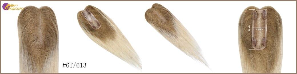 Moresoo cabelo toppers para mulheres 1.5*5 polegada