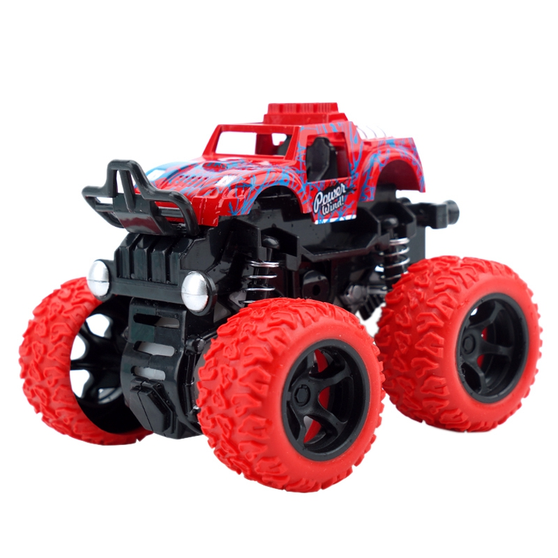 Mini 4Wd Inertia Rotatable Car Toys Friction Power Four-Wheeled Off-Road Vehicle Diecast Model Inertial Car Toy