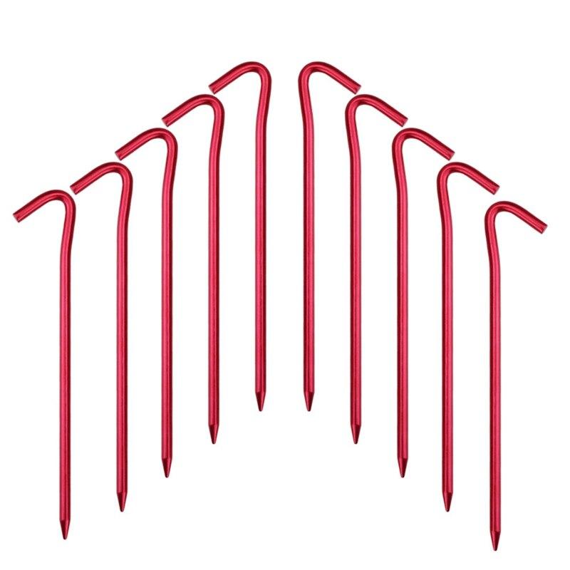 10 упаковок на открытом воздухе палатки колышки для палатки, сверхлегкие крюки колышки для палатки навесы колышки для палатки пляжные палат...