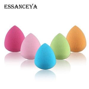 Image 4 - ESSANCEYA, Color aleatorio, 1/4/5/10 uds, paquete, base de maquillaje esponja, conjunto de brochas de maquillaje, polvo, belleza suave, cosmética, herramienta de maquillaje