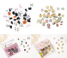 80 шт.% 2Fpack DIY Cartoon Kawaii PVC Stickers Lovely Cat Bear Sticker For Diary Decoration Note Sticker Flakes Stationery Stickers