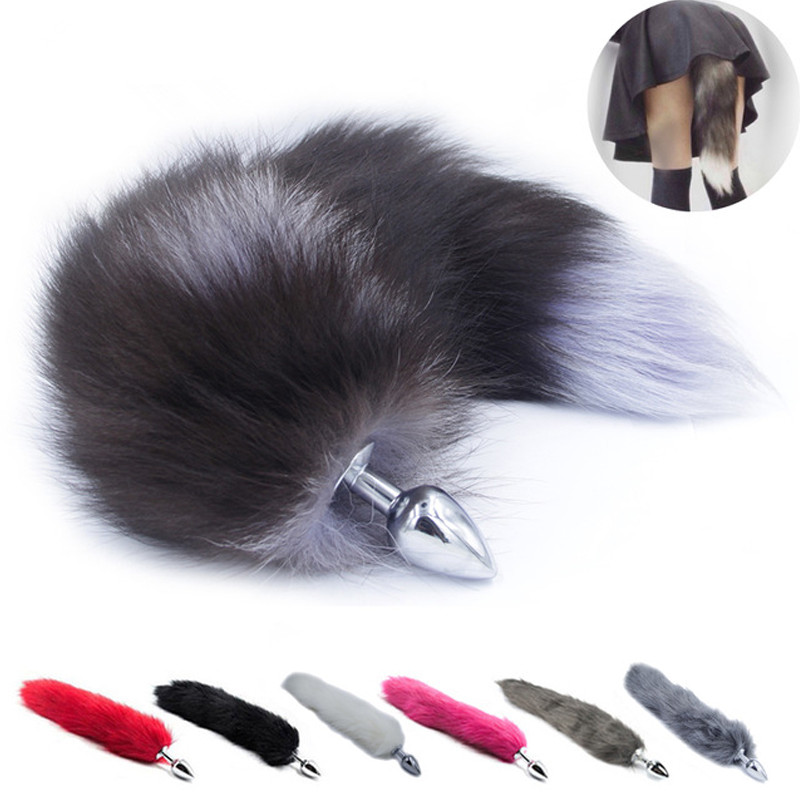 Anal Fox Tail Plug With Stainless Steel Smooth Anal Plug Woman And Sexy Butt Plug Adult game SM Sex Toy for woman Productsa
