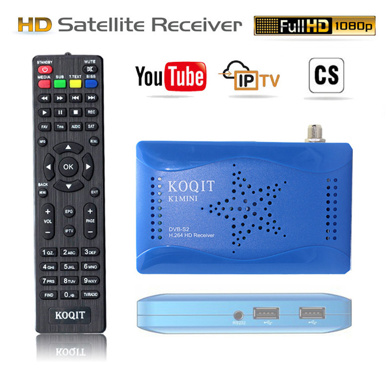 Koqit Free Receptor DVB-S2 T2-MI Tuner DVB S2 Digital Tv Box DVB-S2 Satellite Receiver Scam Cline Auto Biss Decoder Wifi Youtube