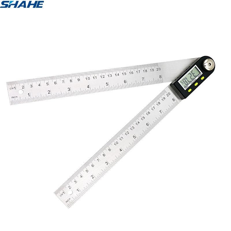 200 Mm/300 Mm Rvs Digitale Meter Hoek Inclinometer Hoek Digitale Heerser Elektron Goniometer Gradenboog Hoekzoeker