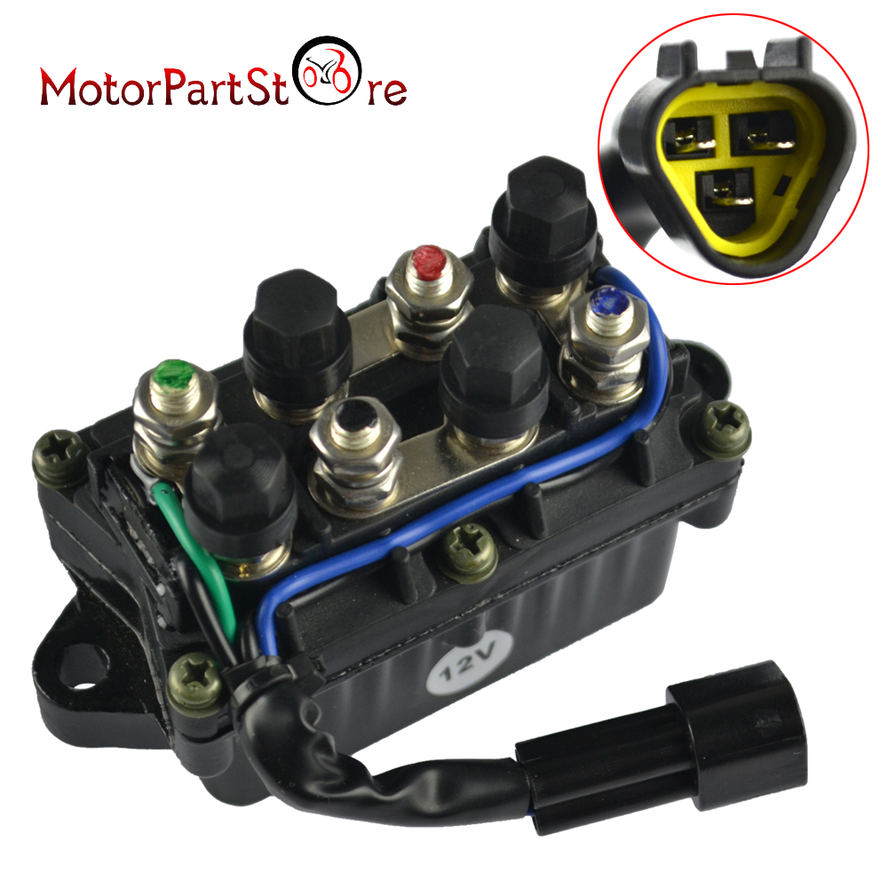 Trim Relay Boat Motor Power 3 Pin 12V Waterproof For Yamaha Outboard 40-90 HP61A-81950-00-00 61A819500100 3 PIN In The Plug