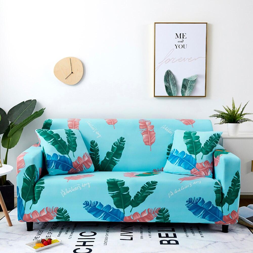 >Thumbedding <font><b>Colorful</b></font> <font><b>Feather</b></font> <font><b>Sofa</b></font>Cover Durable Blue Quality Soft Washable Stretchy Elastic Cover <font><b>Sofa</b></font> For Living Room