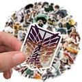 50/100 шт ноутбук аниме наклейки для косплея по аниме «атака на Титанов» (чемодан для скейтборда Чемодан в байкерском стиле с изображением гер...