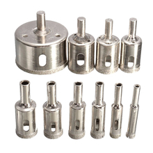 10pcs Diamond Glass Drill Bit Core Drill Bit Set Use For Glass Marble Ceramic Tile Hole Saw Cutter Opener Drilling Tool 6mm-30mm