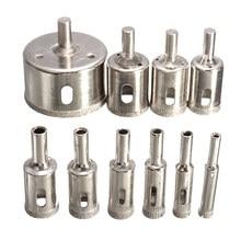 10 Stuks Diamant Glas Boor Core Boor Set Gebruik Voor Glas Marmer Keramische Tegel Gatenzaag Opener boren Tool 6Mm-30Mm