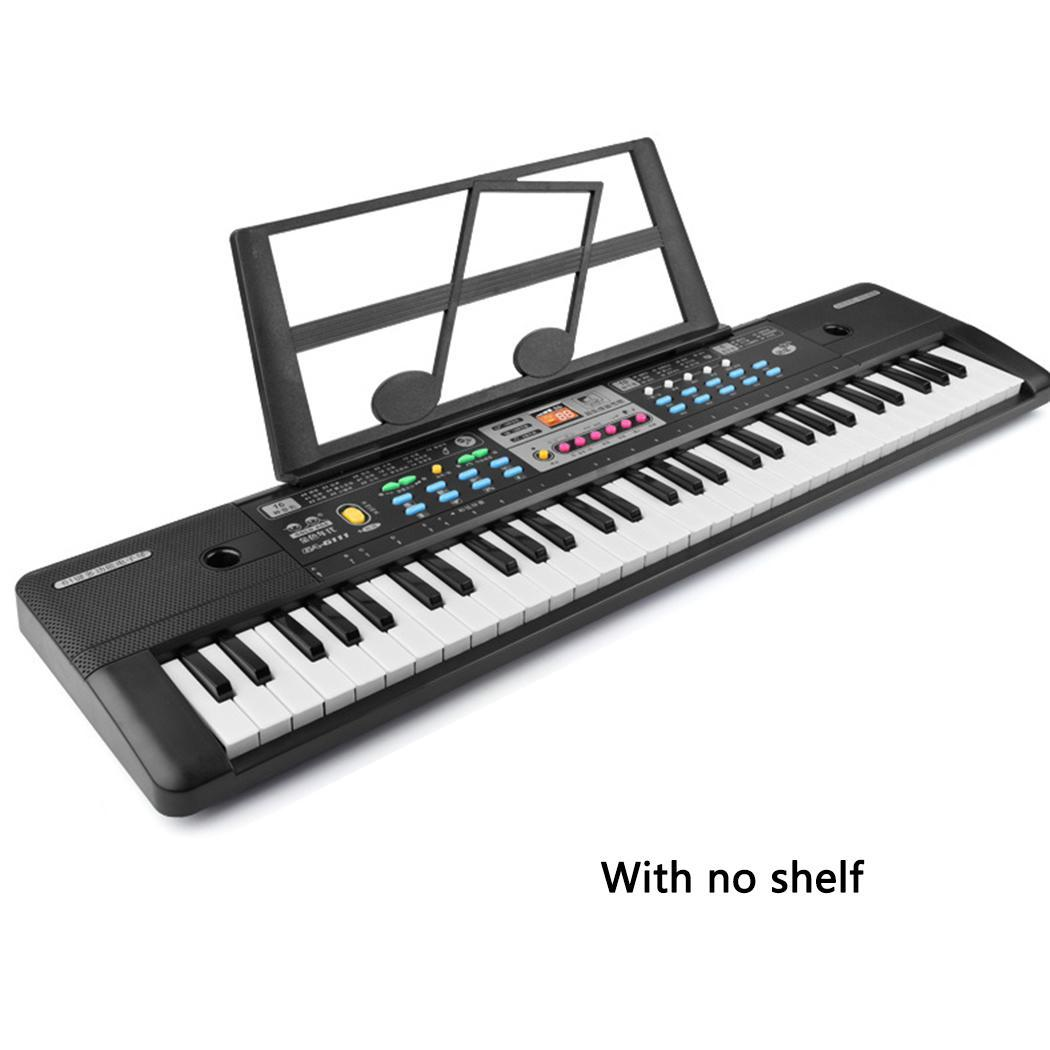 37-keys Microphone Keyboard Children's Musical Toys Early Over Years Old Education Black