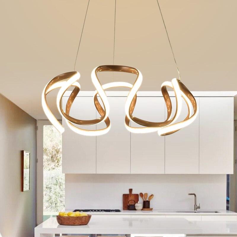 Modern Acrylic Aluminum Round Design Chandelier Pendant LED Light Ceiling Lamp