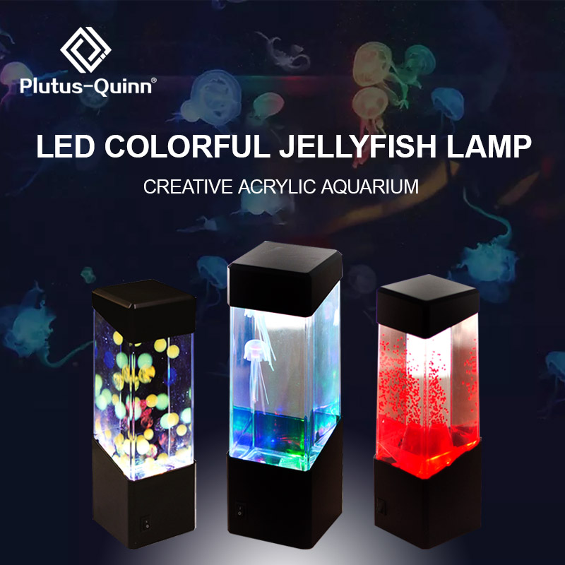 Drop Colorful Jellyfish Tank Aquarium Style LED Lamp Luminaria Lamp Lava Lamp Led Night Light