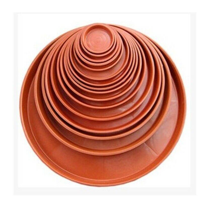 1pcs Red Plastic Garden Flower Plant Pot Saucer Round Base Planter Waterproof Tray #120 #140 #180 # 200 #220 #240