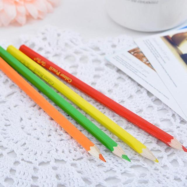 12 Colors Natural Wood Colorful Pencils for Drawing Coloring Pen Art Tool Painting Stationery Office Accessories School