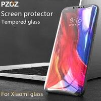 واقي شاشة PZOZ لهاتف xiaomi mi6 mi8 mi9se mi 9t pro ، واقي زجاجي مقوى ، غطاء كامل لهاتف xiaomi mi A3 mi 8 se cc9 glass