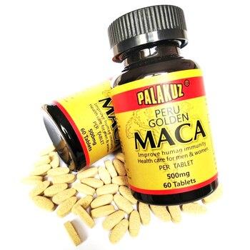2 botella, extractos de raíz de Maca negra Natural cuidado de la...