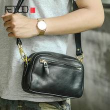 Aetoo Овощной дубления кожаный мобильный телефон сумка Мужская