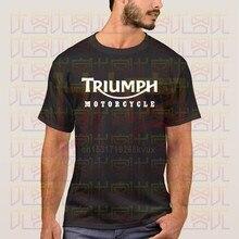 Triumph camiseta masculina logotipo camisa masculina magro anti-rugas camiseta lazer hiphop topos nova triumph motocicleta clássico phiking