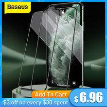 Baseus Tempered Glass For iPhone 12 11 Pro Xs Max X Screen Protector For iPhone Tempered Glass Full Cover Screen Protector Glass cheap Clear Anti Blue-ray CN(Origin) APPLE Front Film Mobile Phone Screen Protector For iPhone 11 Pro 5 8 inch Tempered Glass For iPhone 11 6 1 inch