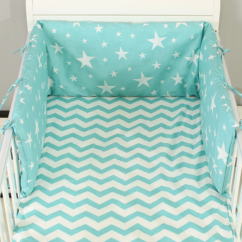 Wieg Bumper Rond Cot Baby Nursery Crib Sets Bumpers voor Baby Cot Cradle Cartoon Jongen Meisje Cot Beddengoed Lange Bumper 180x30cread
